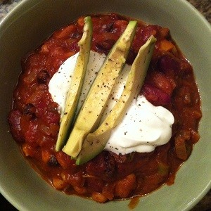 Sarah's Three Bean Chili!